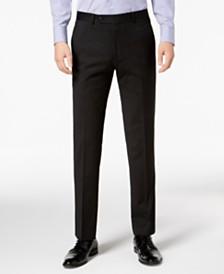 Tommy Hilfiger Men's Modern-Fit THFlex Stretch Black Pinstripe Suit Separates