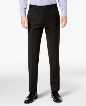 Tommy Hilfiger Men's Modern-Fit THFlex Stretch Black Pinstripe Suit Pants
