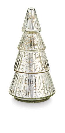 Illume Holiday Mercury Glass Tree Candle