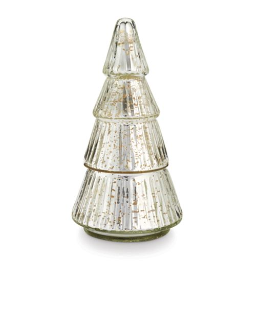 Illume Holiday Mercury Glass Tree Candle