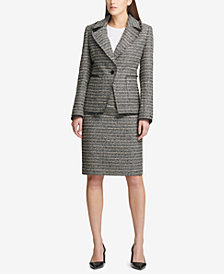 DKNY Tweed Blazer & Pencil Skirt, Created for Macy's