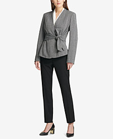 DKNY Tie-Front Jacket & Skinny Pants, Created for Macy's