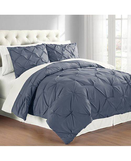 Cathay Home Inc. Premium Collection Twin Pintuck Bedding Comforter Set