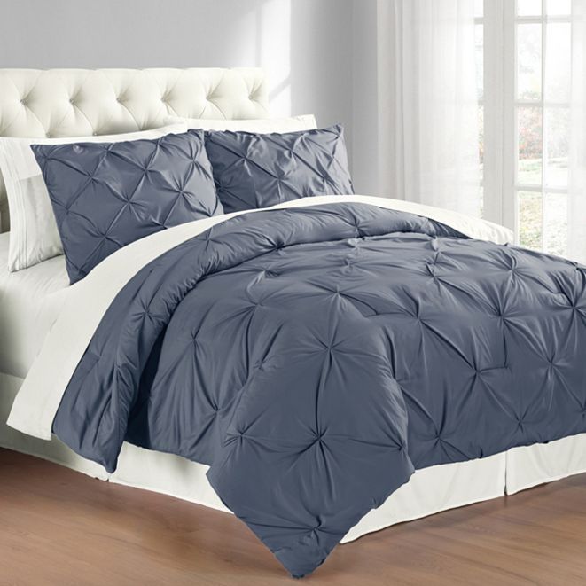 Cathay Home Inc. Premium Collection King Pintuck Bedding Comforter Set