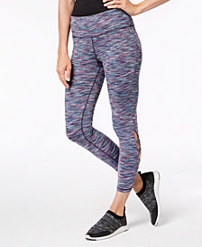 Ideology Space-Dyed Cutout Ankle Leggings, Created for Macy's