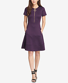 DKNY Zippered Fit & Flare Dress, Created for Macy's