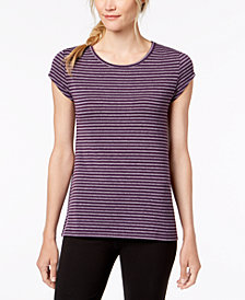 Ideology Striped Cutout-Back T-Shirt, Created for Macy's