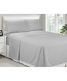 Caribbean Joe Microfiber Queen Solid Sheet Set