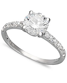 14k White Gold Ring, Swarovski Zirconia Wedding Ring (2-3/4 ct. t.w.)