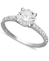 ff1cc443b Arabella 14k White Gold Ring, Swarovski Zirconia Wedding Ring (2-3/4