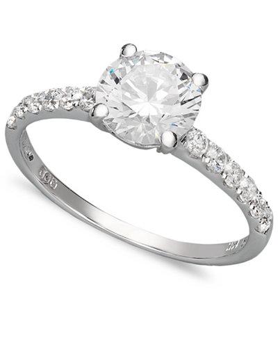 arabella 14k white gold ring swarovski zirconia wedding ring 2 34 - Swarovski Wedding Rings
