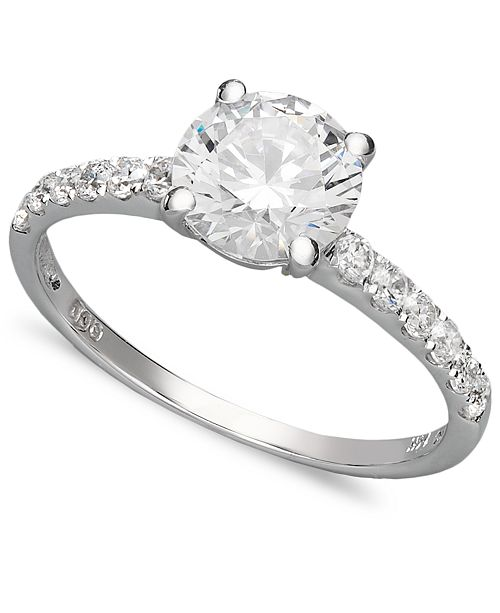 c5050773e52f5 14k White Gold Ring, Swarovski Zirconia Wedding Ring (2-3/4 ct. t.w.)