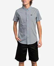 RVCA Men's Slim-Fit Yarn Dyed Plaid Shirt