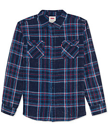 Levi's® Men's Fluvio Textured Yarn-Dyed Plaid Twill Shirt