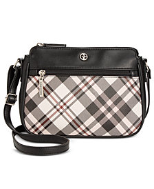 Giani Bernini Saffiano Plaid Crossbody, Created for Macy's
