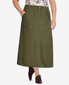 Lauren Ralph Lauren Plus Size Twill Maxiskirt