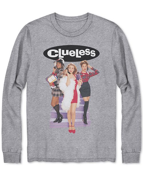 82cf37b83a7 Hybrid Men s Long-Sleeve Clueless Graphic T-Shirt   Reviews - T ...