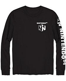 Men's Long-Sleeve Nintendo 64 Graphic T-Shirt
