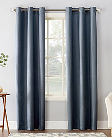 Sun Zero Cooper Textured Thermal Insulated Grommet Curtain Panel Collection