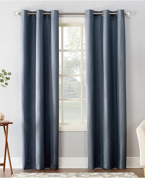 "Sun Zero Cooper 40"" X 63"" Textured Thermal Insulated Grommet Curtain Panel"
