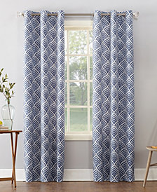 "Sun Zero Clarke 40"" X 63"" Geometric Print Textured Thermal Insulated Grommet Curtain"