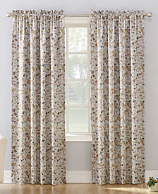 "CLOSEOUT! Sun Zero Isabella 54"" X 84"" Floral Print Room Darkening Rod Pocket Curtain Panel"