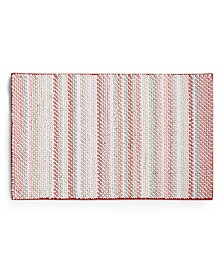 "Martha Stewart Collection Fashion Stripe 21"" x 34"" Bath Rug, Created for Macy's"