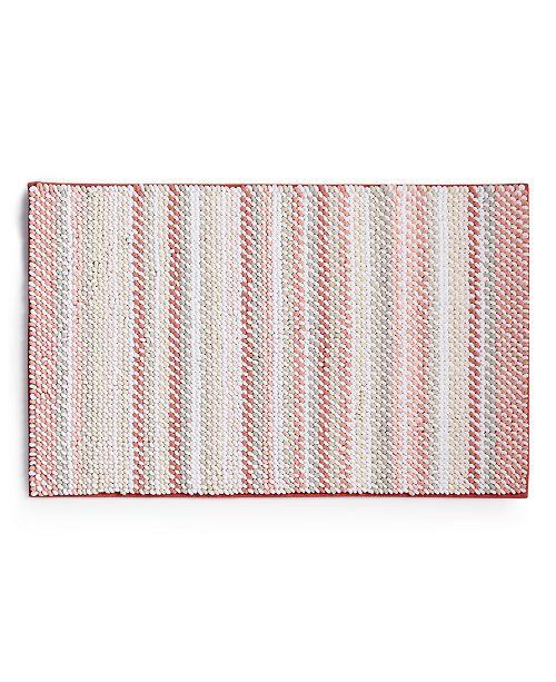 "Martha Stewart Collection Fashion Stripe 21"" x 34"" Bath Rug, Created for Macy's"