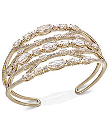 Danori Crystal & Stone Openwork Cuff Bracelet, Created for Macy's