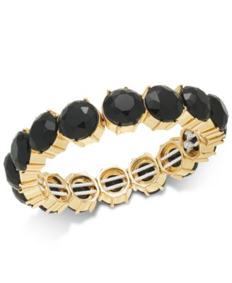 Image of Charter Club Gold-Tone Stone Stretch Bracelet, Created for Macy's