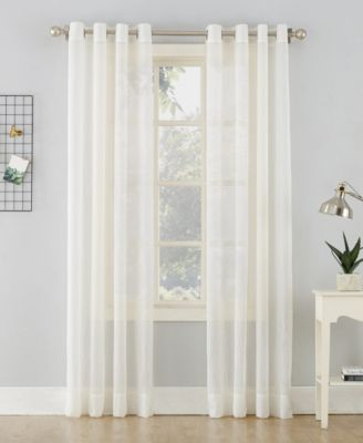 """No. 918 Crushed Sheer Voile 51"""" X 63""""Grommet Curtain Panel"""