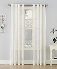 "No. 918 Crushed Sheer Voile 51"" X 84""Grommet Curtain Panel"