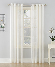 "Lichtenberg No. 918 Crushed Sheer Voile 51"" X 63""Grommet Curtain Panel"