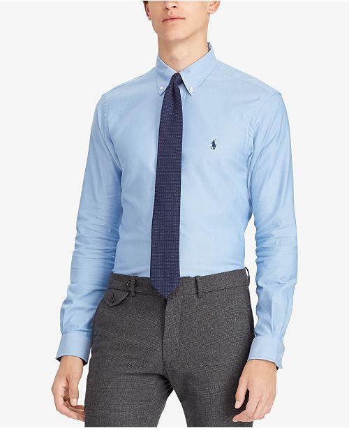 637f4ff5a4 Polo Ralph Lauren Men's Performance Oxford Classic Fit Shirt ...