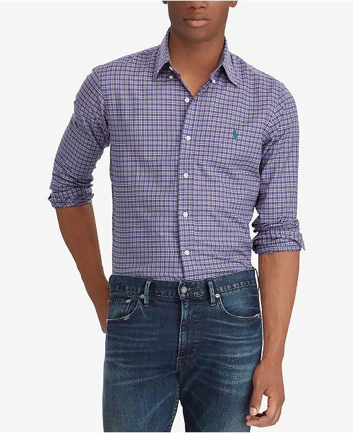 83ca7de8921f Polo Ralph Lauren Men's Classic-Fit Plaid Twill Shirt & Reviews ...