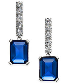 Danori Crystal Stone Drop Earrings, Created for Macy's