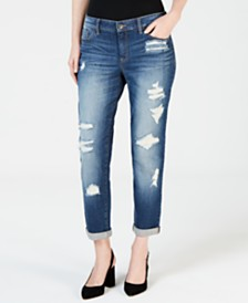 I.N.C. Distressed Boyfriend Jeans, Created for Macy's