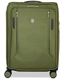 "CLOSEOUT! VX Avenue 25"" Medium Expandable Softside Spinner Suitcase in Olive"