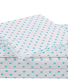 Truly Soft Everyday Dot 4 Piece Queen Sheet Set