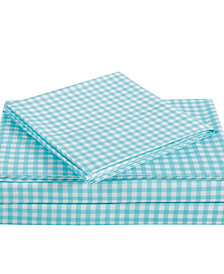 Truly Soft Everyday Gingham 4 Piece Full Sheet Set