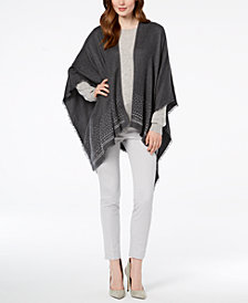 Charter Club Super-Soft Embellished Poncho, Created for Macy's