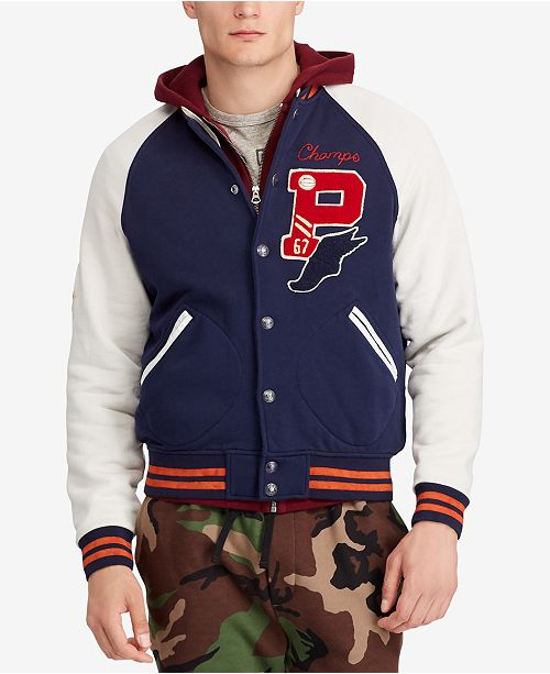 Polo Ralph Lauren Men s Fleece Letterman Jacket - Coats   Jackets ... 72975aee3fc