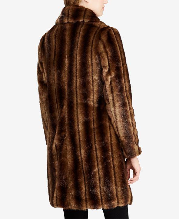 Lauren Ralph Lauren Single-Breasted Faux-Fur Coat ...