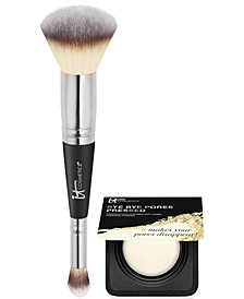 Limited Edition It Cosmetics Heavenly Luxe #7 Brush + Deluxe Bye Bye Pores Set- Only $48.00 with any Beauty purchase! A $57 Value!