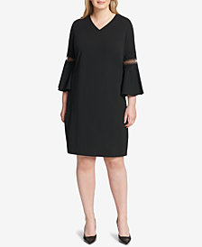 Jessica Howard Plus Size Lace-Trim Shift Dress