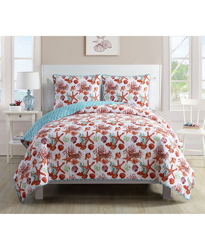 VCNY Home - Sea Life Reversible 3-Pc. King Quilt Set