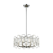 Crosby 6 Light Pendant, Polished Chrome