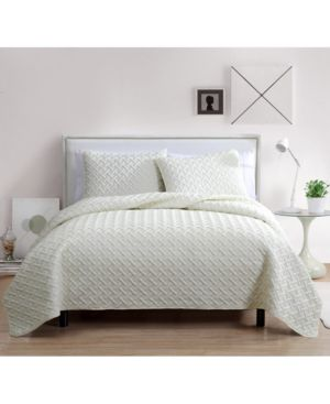 Vcny Home Nina 3-Pc. Full/Queen Embossed Quilt Set 6729207