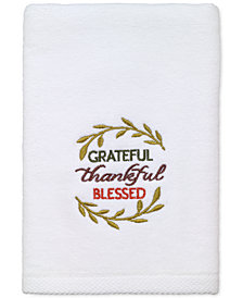 Avanti Grateful Cotton Embroidered Hand Towel