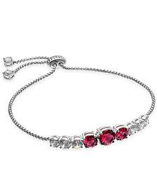 Danori Silver-Tone Crystal & Stone Slider Bracelet, Created for Macy's